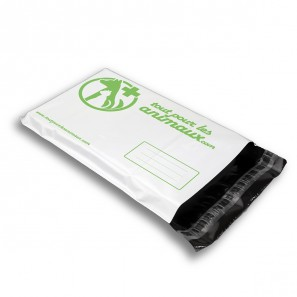 Enveloppes plastiques blanches opaques personnalisées 1 à 3 couleurs