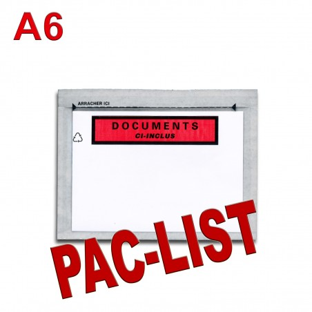 """Documents ci-inclus"" PAC-LIST"" A6"