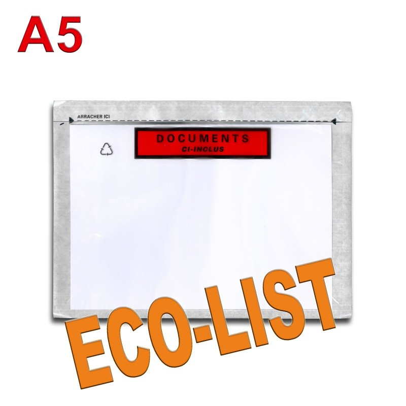 """Documents ci-inclus"" ECO-LIST A5"