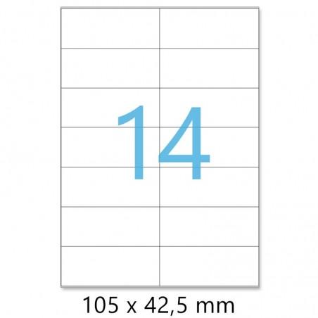 Planches A4 de 14 étiquettes autocollantes 10,5 x 4,25 cm - spéciales ADRESSE