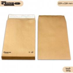 Enveloppes kraft 120g à soufflets C4 - Courrier+ C4-S