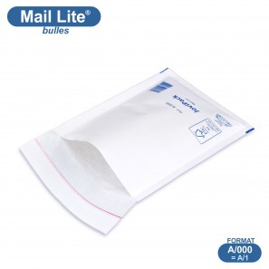 Enveloppes à bulles MAIL LITE blanches A/000 format 110x160 mm [type A/1]