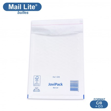 Enveloppes à bulles MAIL LITE blanches C/0 format 150x210 mm [type C/3]