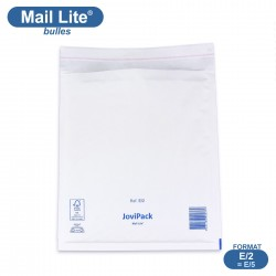 Enveloppes à bulles MAIL LITE blanches E/2 format 220x260 mm [type E/5]