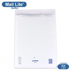 Enveloppes à bulles MAIL LITE blanches G/4 format 240x330 mm [type G/7]