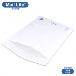 Enveloppes à bulles MAIL LITE blanches H/5 format 270x360 mm [type H/8]
