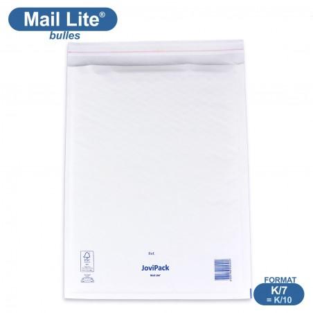 Enveloppes à bulles MAIL LITE blanches K/7 format 350x470 mm [type K/10]