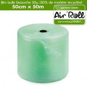 Rouleau de film Film à Bulle GREEN avec 50% de matière recycléé