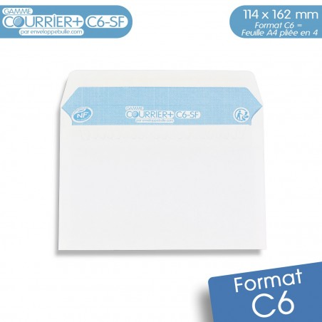 Enveloppes blanches A6 gamme Courrier+ C6-SF