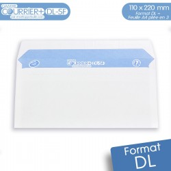 Enveloppes blanches DL gamme Courrier+ DL-SF