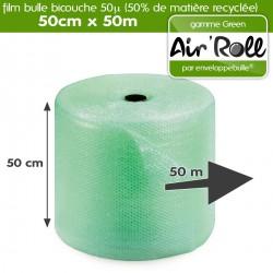 Rouleau de Film à Bulle GREEN avec 50% de matière recyclée