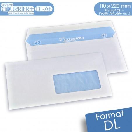 Enveloppes blanches DL avec fenêtre gamme Courrier+ DL-AF