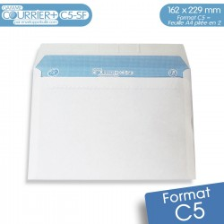Enveloppes blanches C5 gamme Courrier+ C5-SF