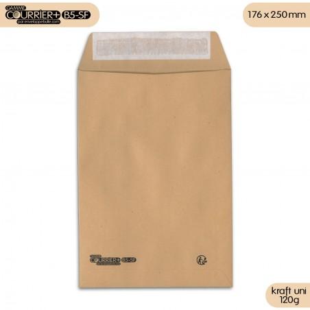 Enveloppes kraft brun uni B5 gamme Courrier+