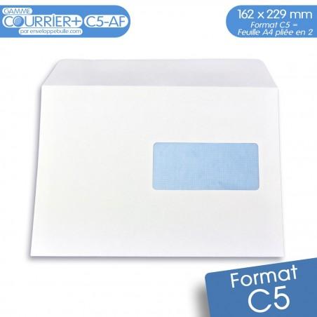 Enveloppes blanches C5 avec FENÊTRE gamme Courrier+ C5-AF
