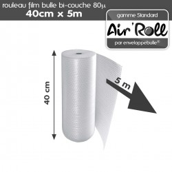Rouleau de film bulle d'air 40cm x 5m