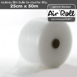Rouleau de film bulle d'air 25cm x 50m