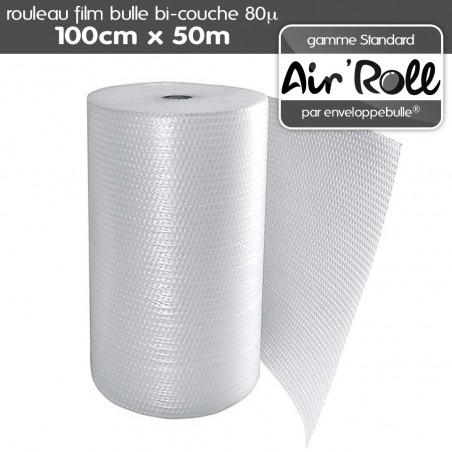 Rouleau de film bulle d'air 1m x 50m