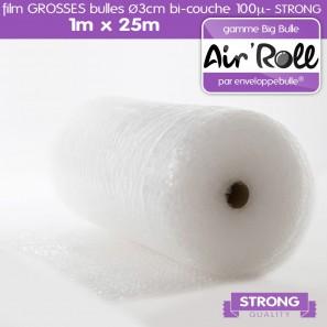 1 rouleau de film grosses bulles larg 1 00m x long 25m ebay. Black Bedroom Furniture Sets. Home Design Ideas