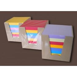 Bloc cube de 600 feuillets multicolores