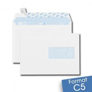 Enveloppes blanches c5 auto adh sives fen tre for Enveloppe a fenetre
