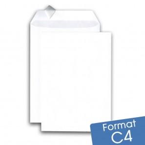 Enveloppes blanches C4 auto-adhésives