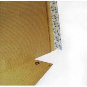 Enveloppes kraft brun C4 auto-adhésives