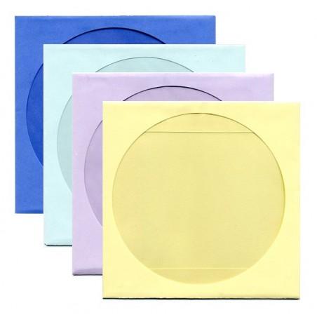 Enveloppes couleur CD/DVD à FENÊTRE