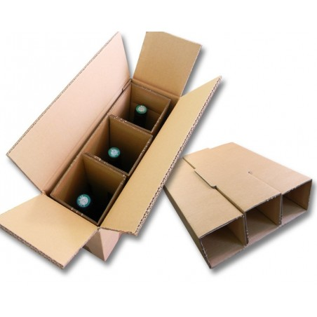 Carton spécial pour expédier 3 bouteilles