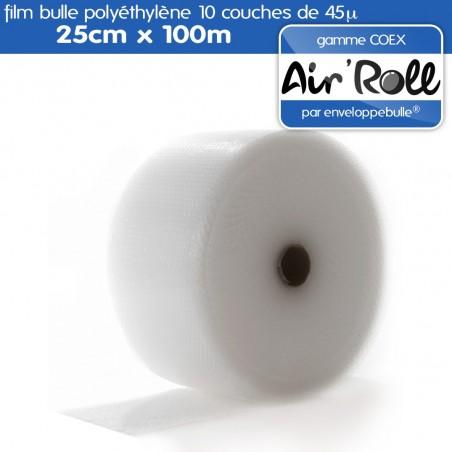 Rouleau de film bulle d'air COEX 25cm x 100m
