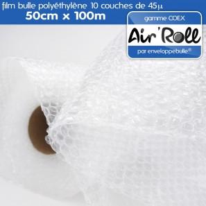 rouleau de film bulle d 39 air coex 50cm x 100m. Black Bedroom Furniture Sets. Home Design Ideas