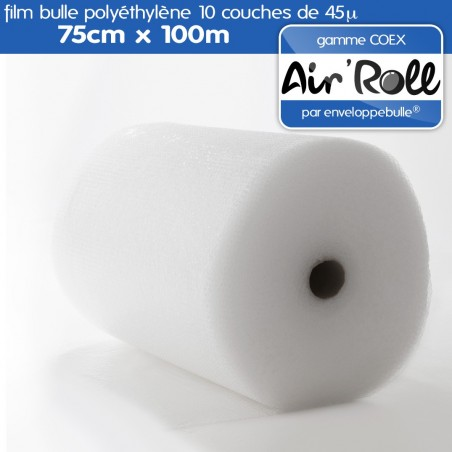 Rouleau de film bulle d'air COEX 75cm x 100m
