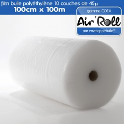 Rouleau de film bulle d'air COEX 100cm x 100m