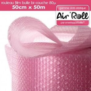 rouleau de film bulle d 39 air antistatique 50cm x 50m. Black Bedroom Furniture Sets. Home Design Ideas