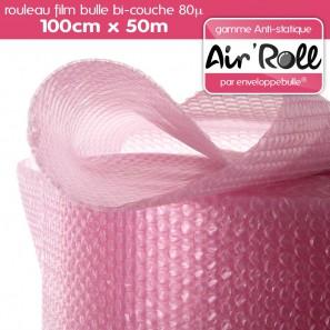 1 Rouleau de film bulle d/'air ANTISTATIQUE 100cm x 50m
