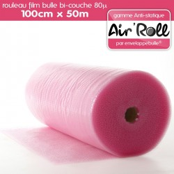 Rouleau de film bulle d'air ANTISTATIQUE 100cm x 50m